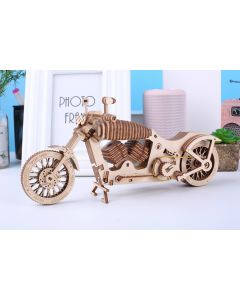 Classic DIY Movable 3D Motorbikes Wooden Model Building Kit
